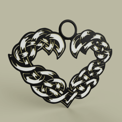 Coeur_Celtique_medaille.png Download free STL file Celtic heart medal • 3D printing design, yb__magiic