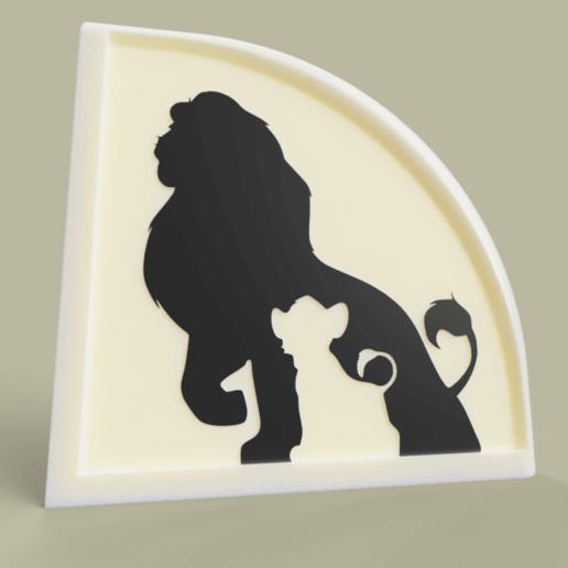 Download free 3D printer designs le roi lion - Lion King Disney, yb__magiic