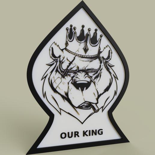 Télécharger plan imprimante 3D gatuit Notre Roi Lion, yb__magiic