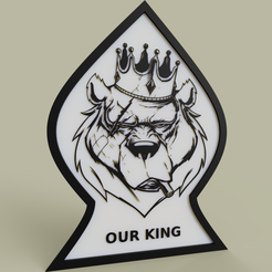 our_lion_king.PNG Download free STL file Our Lion King • Design to 3D print, yb__magiic