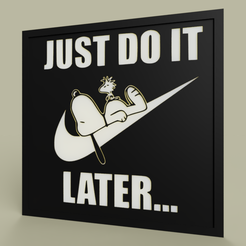 Impresiones 3D gratis LOL - Snoopy - Nike - Just Do It Later, yb__magiic