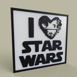 Download free 3D model i love starwars No1, yb__magiic