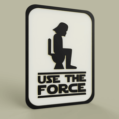 Download free 3D printing templates StarWars Use the Force - Darth Vader, yb__magiic