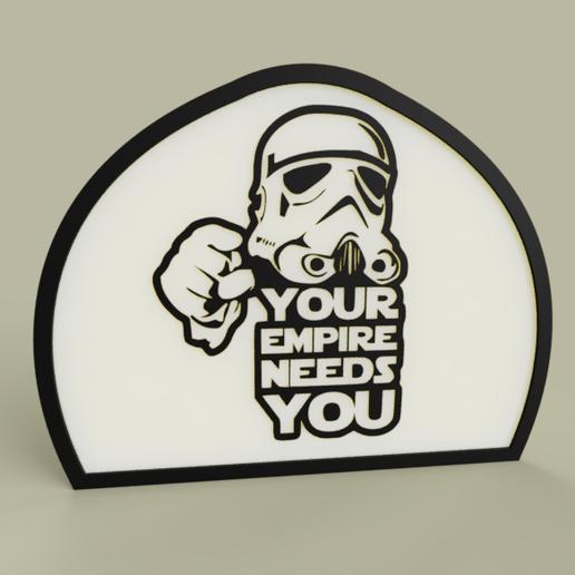 Télécharger plan imprimante 3D gatuit StarWars - StrormTrooper - Votre Empire a besoin de vous, yb__magiic