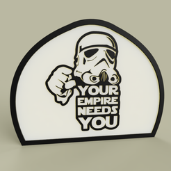 Download free 3D printing templates StarWars - StrormTrooper - Your Empire needs you, yb__magiic