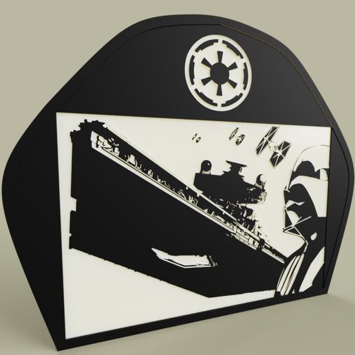 72758029-6990-4b50-b4da-b73e4f36f253.PNG Download free STL file StarWars DarthVader Destroyer • 3D print design, yb__magiic
