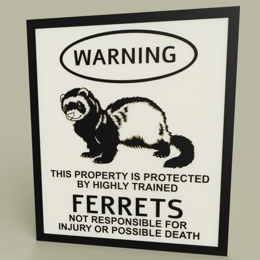 Télécharger fichier 3D gratuit LOL - Furets d'avertissement, yb__magiic
