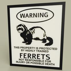 Download free 3D printer designs LOL - Warning Ferrets, yb__magiic