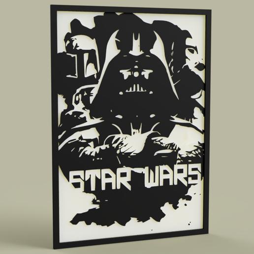 Télécharger objet 3D gratuit Soldat d'assaut StarWars DarkVader BobaFett, yb__magiic
