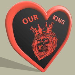 Lion_King_Coeur_v5.png Download free STL file Our Lion King Coeur • 3D printer template, yb__magiic