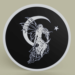 Fairy_on_the_moon_2019-May-05_07-24-02PM-000_CustomizedView10992097488.png Télécharger fichier STL gratuit Fée sur la Lune • Modèle imprimable en 3D, yb__magiic
