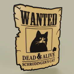 Download free 3D printer designs Wanted Schrodinder s cat dead and alive, yb__magiic