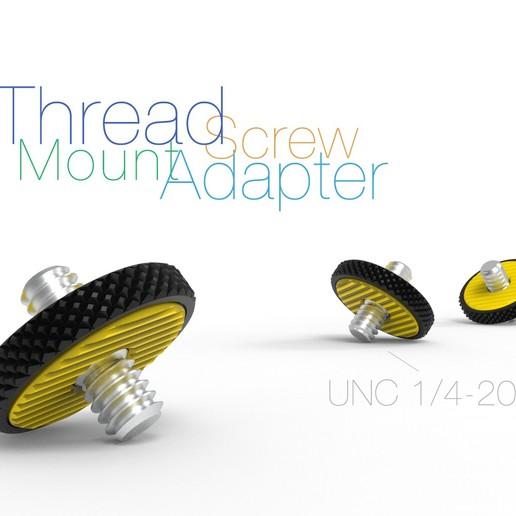 Télécharger fichier STL gratuit Adaptateur de montage à vis filetée UNC 1/4-20 • Modèle imprimable en 3D, perinski