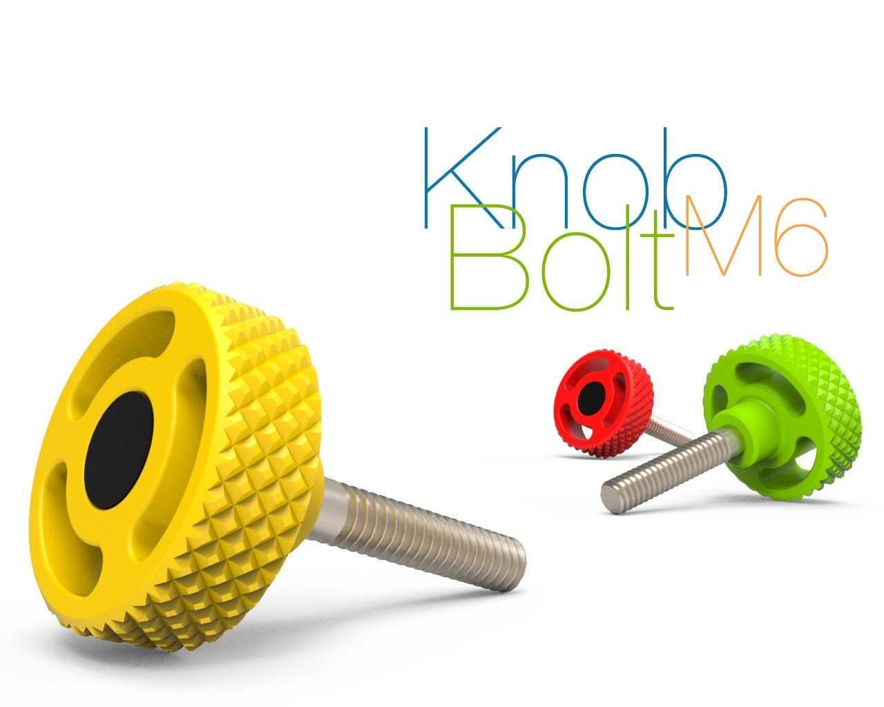 Knob-Bolt-M6.jpg Télécharger fichier STL gratuit Boulon de bouton M6 • Modèle imprimable en 3D, perinski