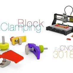 Clamping-Block.jpg Download free STL file Clamping Block for CNC 3018 • 3D printable template, perinski