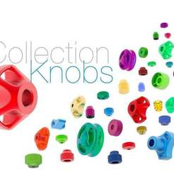 Download free 3D printer designs Knobs Collection, perinski