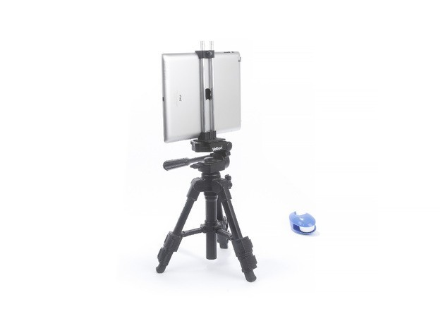 032b2cc936860b03048302d991c3498f_preview_featured.jpg Download free STL file Clamp for iPad 4 on a tripod • 3D printing model, perinski