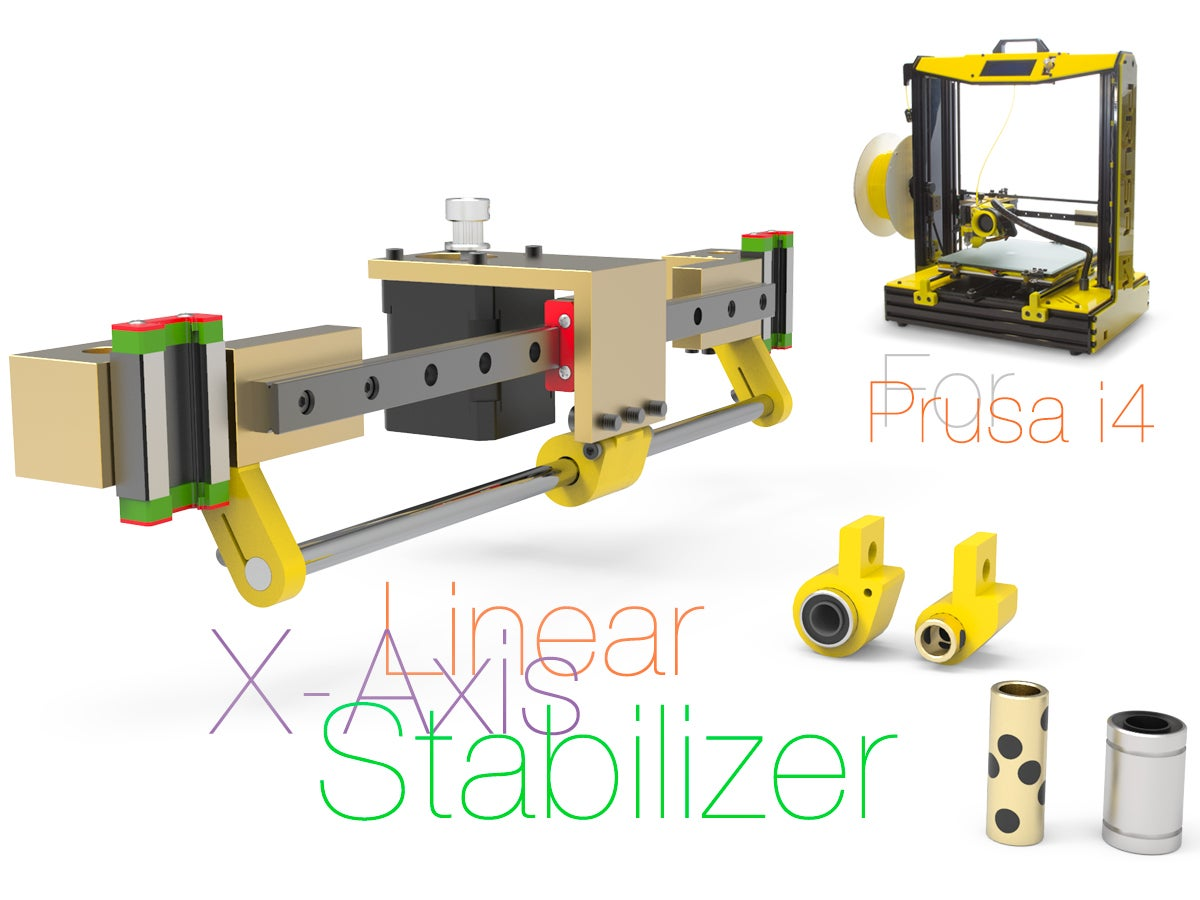 X.jpg Download free STL file Linear X-Axis Stabilizer for Prusa i4 • 3D printing object, perinski