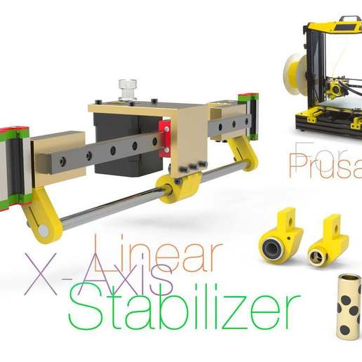 Download free 3D printer templates Linear X-Axis Stabilizer for Prusa i4, perinski