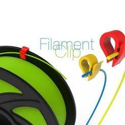 Filament-Clip.jpg Télécharger fichier STL gratuit Clip de filament • Modèle pour imprimante 3D, perinski