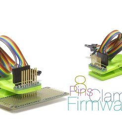 Free 3D printer model Clamp for firmware controllers 8 pins, perinski