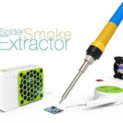 Solder-Smoke-Extractor.jpg Télécharger fichier STL gratuit Extracteur de fumée de soudure • Plan pour imprimante 3D, perinski
