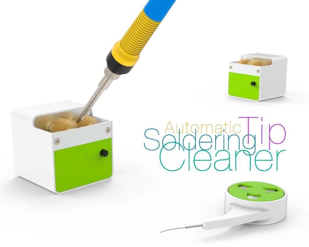 Automatic-Soldering-Tip-Cleaner.jpg Télécharger fichier STL gratuit Nettoyant pour panne à souder • Modèle à imprimer en 3D, perinski