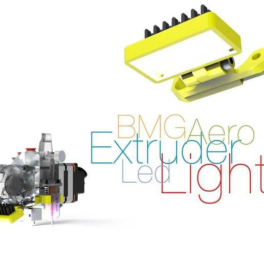Download free STL file Led Light for BMG Aero Extruder • Model to 3D print, perinski