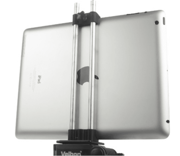 Capture d'écran 2018-04-26 à 11.19.23.png Download free STL file Clamp for iPad 4 on a tripod • 3D printing model, perinski