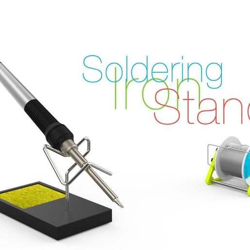 Soldering-Iron-Stand.jpg Télécharger fichier STL gratuit Support de fer à souder • Plan pour impression 3D, perinski