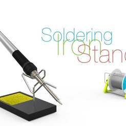 Download free 3D printer designs Soldering Iron Stand, perinski
