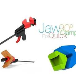 Jaw-90-degry-for-Quick-Clamp.jpg Download free STL file Jaw 90° for Quick Clamp • 3D printing model, perinski