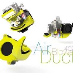 Air-Duct.jpg Télécharger fichier STL gratuit Conduit d'air pour le ventilateur 4020 • Objet pour imprimante 3D, perinski