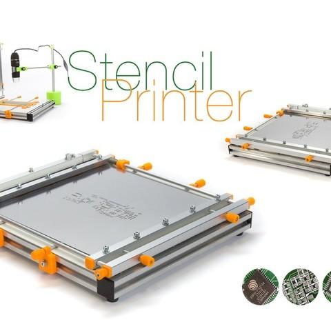 Download free 3D printing templates Stencil Printer, perinski