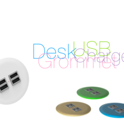 Download free 3D printing templates Desk Grommet with USB Charger, perinski