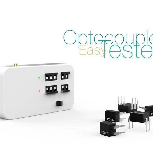 Download free 3D printer designs Optocoupler Tester Easy, perinski