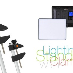 Download free 3D printer designs Lighting Stand with Clamp, perinski