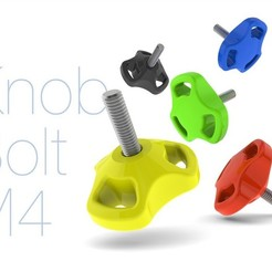 Download free 3D printing models Knob Bolt M4, perinski