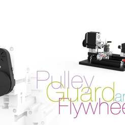 Télécharger plan imprimante 3D gatuit Protection de poulie et volant d'inertie pour tour miniature, perinski