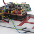 Free 3D print files PCB arm for Arduino UNO and MeanWell EPP-100-24, perinski