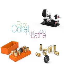Download free 3D printer files Box Collet for mini Lathe, perinski