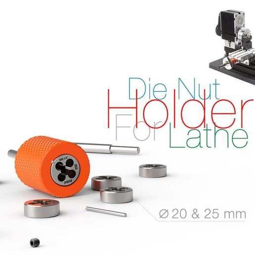 Download free 3D printing files Die Nut Holder for Lathe, perinski