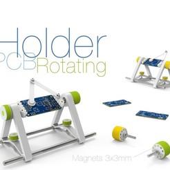 Rotating-PCB-Holder.jpg Télécharger fichier STL gratuit Support rotatif pour PCB • Modèle pour imprimante 3D, perinski