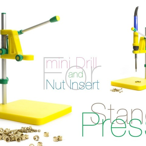 Download free 3D printer designs Stand Press. 2 in 1, perinski