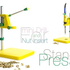 Free 3D printer designs Stand Press. 2 in 1, perinski