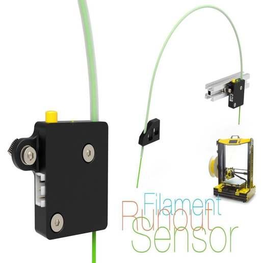 Impresiones 3D gratis Sensor de fuga de filamentos v2, perinski