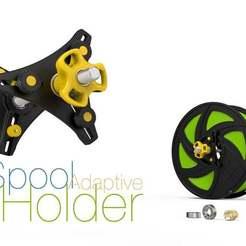adaptive-spool-holder.jpg Download free STL file Adaptive Spool Holder • Design to 3D print, perinski