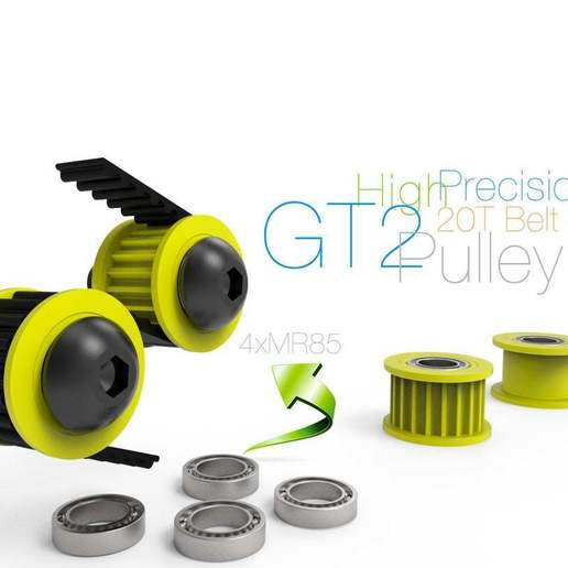 Télécharger fichier STL gratuit Poulie GT2 de haute précision • Objet imprimable en 3D, perinski