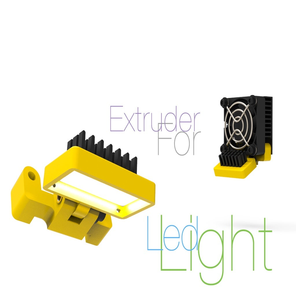 large_display_Light-for-Extruder.jpg Download free STL file Led Light for Extruder • 3D print object, perinski