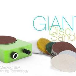 Download free 3D printing designs Disc Sander GIANT, perinski